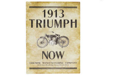 Placa Decorativa de Metal 30x40cm - Triumph 1913