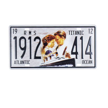 Placa Decorativa em Metal - Titanic