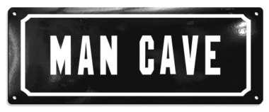 Placa MDF Man Cave  - 11,5 x 30,5 cm