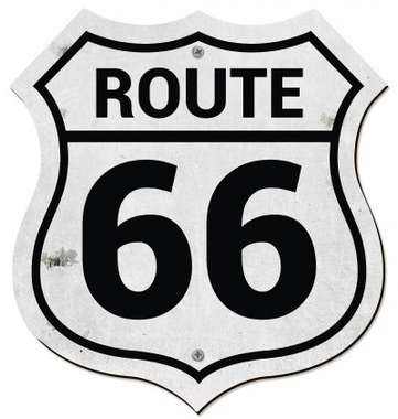 Placa MDF Route 66  - 36 x 33,5 cm