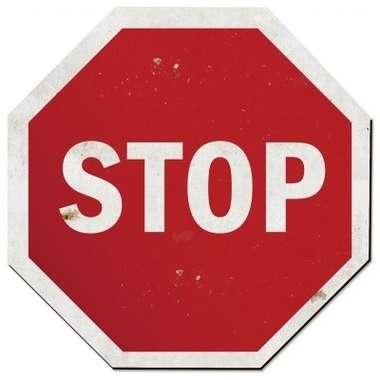 Placa MDF Stop  - 38,4 x 38,4 cm