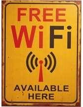 Placa MDF - Free Wi Fi - 40x30 cm