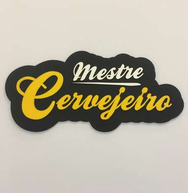 Placa MDF em Relevo - Mestre Cervejeiro