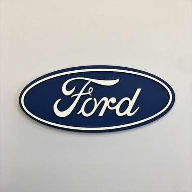 Placa MDF em  relevo  - Ford