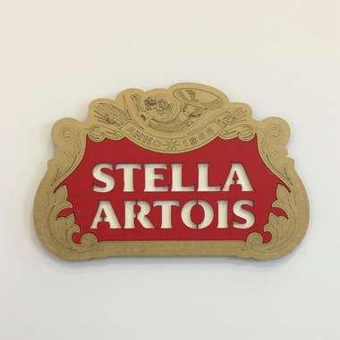 Placa MDF em relevo  - Stella Artois