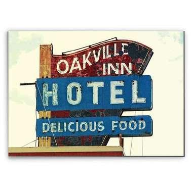 Placa Madeira MDF Oakville inn Hotel - 28x19 cm