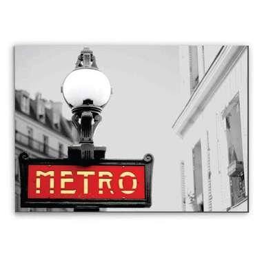 Placa Madeira MDF Metro - 28x19 cm