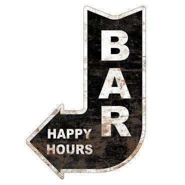 Placa Mdf - Seta - Bar Happy Hour