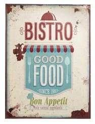 Placa Metal Adesivada - Bistro Good Food  - 30x40 cm