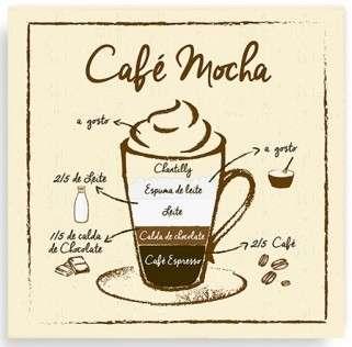 Placa Metal Café Mocha  - 20 x 20 cm