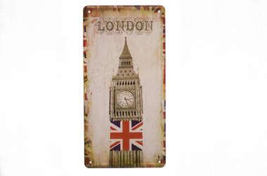 Placa Metal Vintage United Kingdom