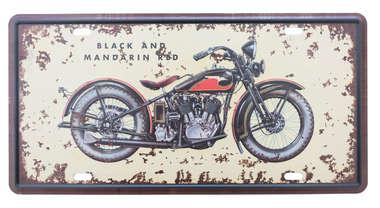Placa Metal Vintage - Black Custom