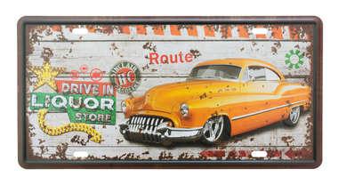 Placa Metal Vintage - Drive In
