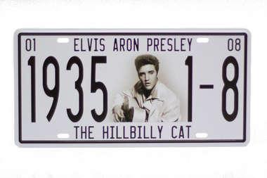 Placa Metal Vintage - Elvis Aron Presley