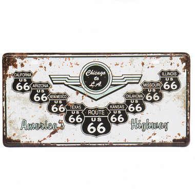 Placa Metal Vintage - Highway