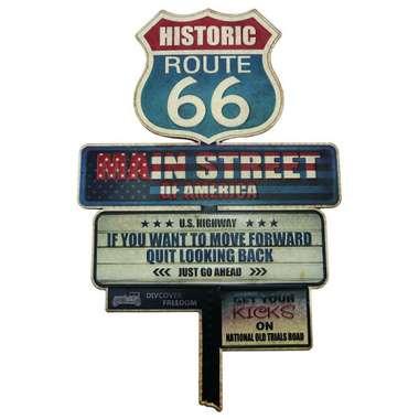 Placa Metal Vintage - Historic Route 66