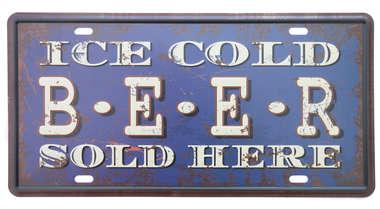 Placa Metal Vintage - Ice Cold Beer
