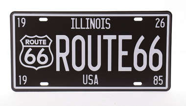 Placa Metal Vintage - Ilinois Route 66 USA