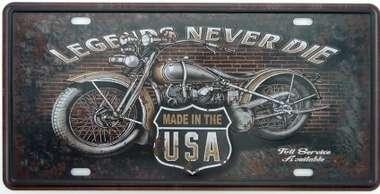 Placa Metal Vintage - Legends