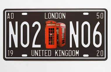 Placa Metal Vintage - London UK