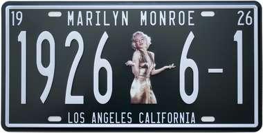 Placa Metal Vintage - Marilyn Monroe