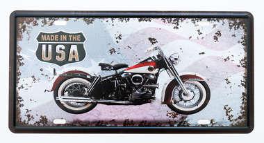 Placa Metal Vintage - Motocycle USA
