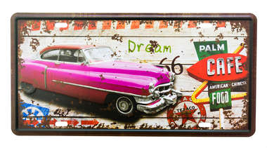Placa Metal Vintage - Palm Cafe