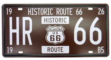Placa Metal Vintage - Route 66 - HR