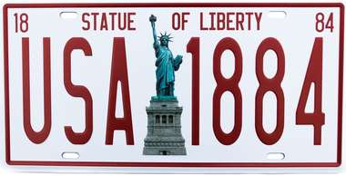 Placa Metal Vintage - USA 1884