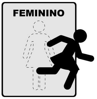 Placa Metal de Sinalização -Toilette Feminino - 18x18 cm