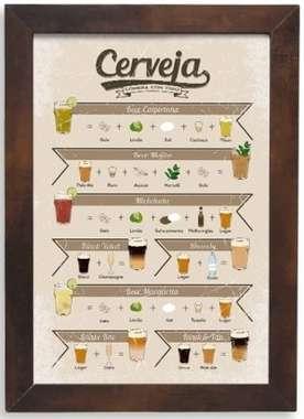 Quadro placa de metal - Drinks Cerveja