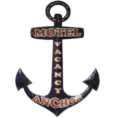 Placa de Metal - Motel Anchor