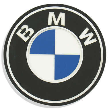 Placa MDF em relevo - BMW