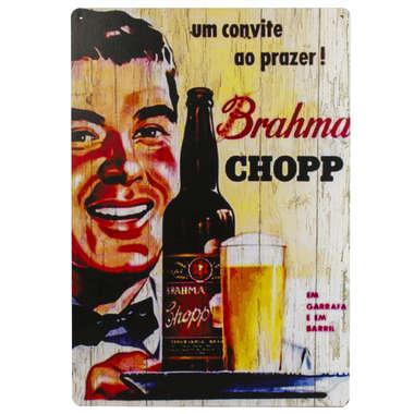 Placa em MDF - Brahma Chopp Anos 40 R$ 39,90