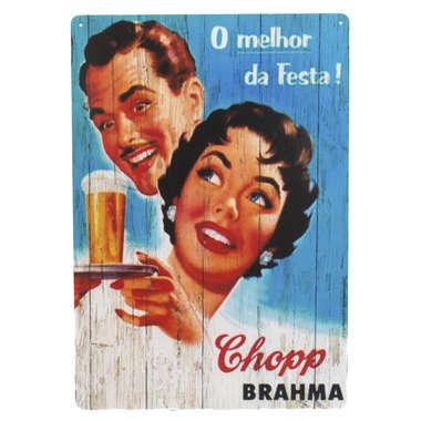Placa em MDF - Brahma o melhor da festa - 28x21cm