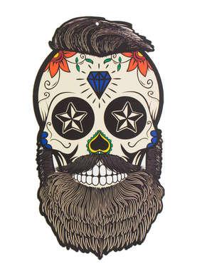 Placa em MDF - Caveira Mexicana - Barber