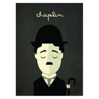 Placa em MDF - Chaplin - 28x21cm
