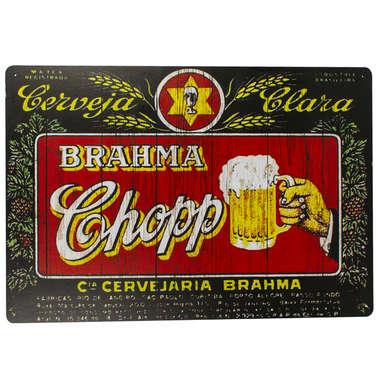 Placa em MDF - Cia Cervejaria Brahma
