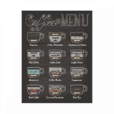 Placa em MDF - Coffee Menu