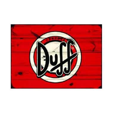 Placa em MDF - Duff - 28x21cm