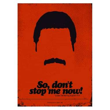 Placa em MDF - Freddie Mercury- 28x21cm