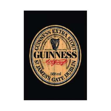 Placa em MDF - Guinness Stout - 28x21cm