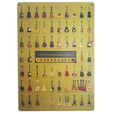 Placa em MDF - Guitars