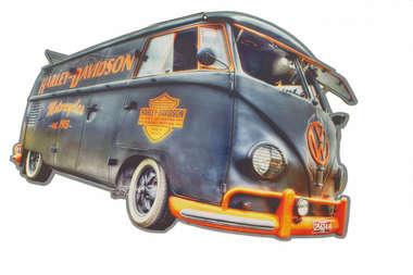 Placa em MDF - Harley Davidson Made in America