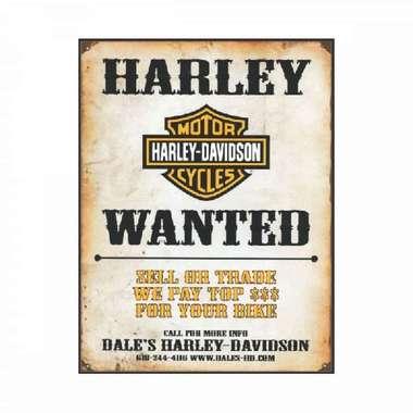 Placa em MDF - Harley Wanted