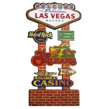 Placa em MDF - Las Vegas