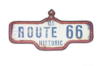 Placa em MDF - Route 66 Historic