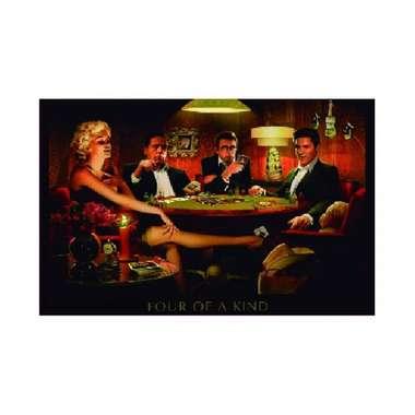 Placa em MDF - Stars Poker