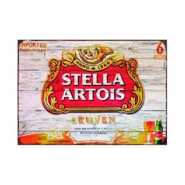 Placa em MDF - Stella Artois Leuve- 28x21cm