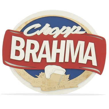 Placa MDF em relevo - Chopp Brahma